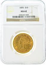 *1895 $10 MS 62 NGC Liberty Gold Coin (DF)