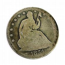 1854-O Arrows At Date Liberty Seated Half Dollar Coin