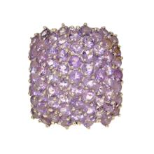 *Fine Jewelry 13.0gm. One Of A Kind Custom Made Amethyst And Sterling Silver Ring (SI GR_0077)