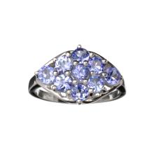 APP: 1.9k Fine Jewelry Designer Sebastian 1.80CT Oval Cut Violet Blue Tanzanite And Platinum Over Sterling Silver Ring
