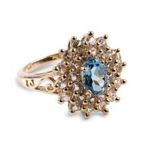 APP: 1.5k 14 kt. Gold, 2.11CT Topaz And White Sapphire Ring