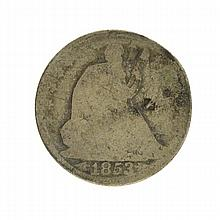 1853-O Arrows At Date Liberty Seated Half Dollar Coin