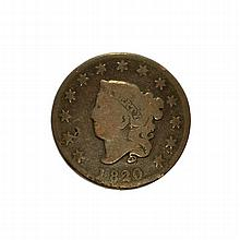 1820 Large Cent Coin