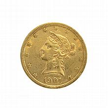 1901 $10 U.S. Liberty Head Gold Coin