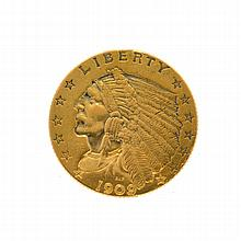 1909 $2.50 U.S. Indian Head Gold Coin