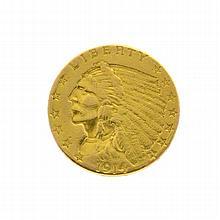 1914-D $2.50 U.S. Indian Head Gold Coin