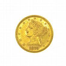 1879-S U.S. $5 Liberty Head Gold Coin