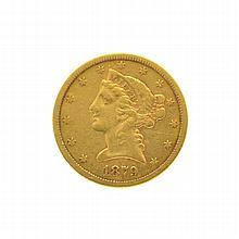 1879-S $5 U.S. Liberty Head Gold Coin