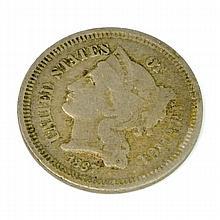 1867 Three-Cent Piece Coin