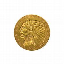 1908-D $5 U.S. Indian Head Gold Coin