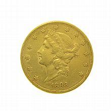 *1893-S $20 U.S. Liberty Head Gold Coin (DF)