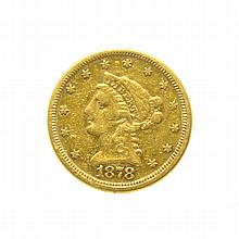 1878 $2.50 U.S. Liberty Head Gold Coin