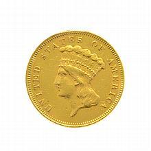 1878 $3 U.S. Gold Coin