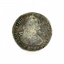 1799 Eight Reales American First Silver Dollar Coin