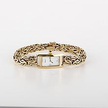 *14KT Gold, GENEVE Mother Of Pearl Gold Watch (FJ F312)