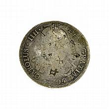 X795 Eight Reales American First Silver Dollar Coin
