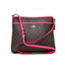 Brand New Coach Signature File Messenger Brown/Pink Ruby Bag