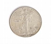 1944-S Liberty Walking Half Dollar Coin