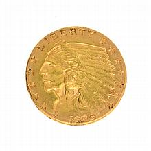1925-D $2.5 U.S. Indian Head Gold Coin