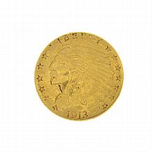 1913 U.S. $2.5 Indian Head Gold Coin