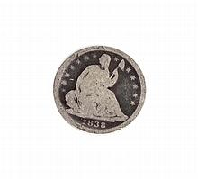 1838 Liberty Seated Half Dime Coin