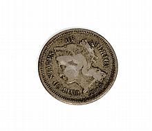 1865 Three-Cent Piece Nickel Coin