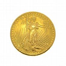*1928 $20 U.S. Saint Gaudens Gold Coin (DF)