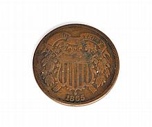 1865 Two-Cents Piece Coin