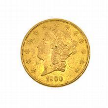 *1900-S $20 U.S. Liberty Head Gold Coin (DF)