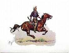 FREDERIC REMINGTON (After) A Crow Scout Print, 16'' x 12''