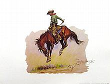 FREDERIC REMINGTON (After) ''Sun Fisher'' Print, 16'' x 12''