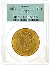*1904 $20 U.S. MS 64 PCGS Liberty Head Gold Coin (DF)