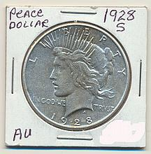 *1828-S Peace Dollar Coin (JG)