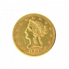 1906-D $10 U.S. Liberty Head Gold Coin