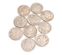 10 Misc. Buffalo Nickel Coins