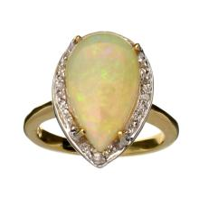 APP: 3.2k 14 kt. Yellow/White Gold, 2.38CT Opal And Diamond Ring