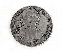 1801 Eight Reales First Silver Dollar Coin