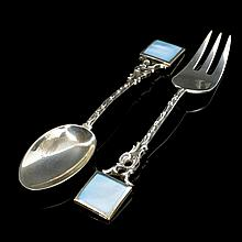 Sterling Silver Baby Fork And Spoon Set