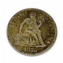 1876 Seated Liberty Dime Coin