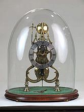 Reloj esqueleto inglés neogótico con esfera firmada