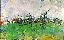 "Jean Commere (París, 1920 - Angers, 1986) ""Paisaje con árboles"" Ó"