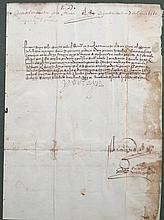 Carta de Don Fernando el Católico firmada y fechada en 1516 29 x 21 cm