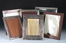 Lote de seis marcos de plata mejicana  41 x 36 cm, el mayor Luces