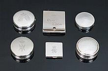 Lote de seis cajitas de plata, recuedos de bodas reales 150 gr 6