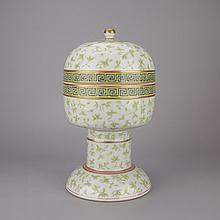 Chinese Celadon Under Glazed Porcelain Lidded Dou
