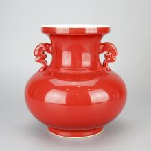 Chinese Coral Red Porcelain Vase