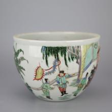 Chinese Polychrome Porcelain Ink Pot