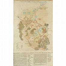 A map of the Battle of Waterloo by Lieutenant Tyle