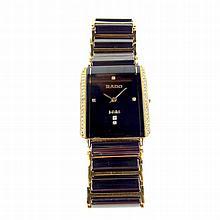 Rado Jubilé tungsten diamond set watch. Model 150