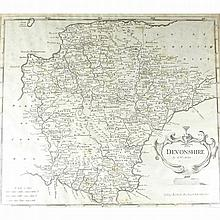 Robert Morden (1668 - 1703), an engraved Map of De